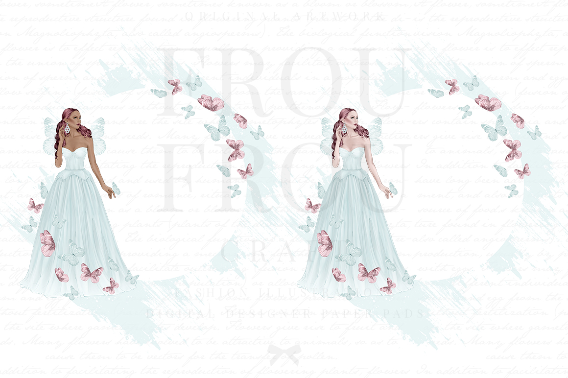 Fairy Tale Princess Butterfly Clip Art example image 4