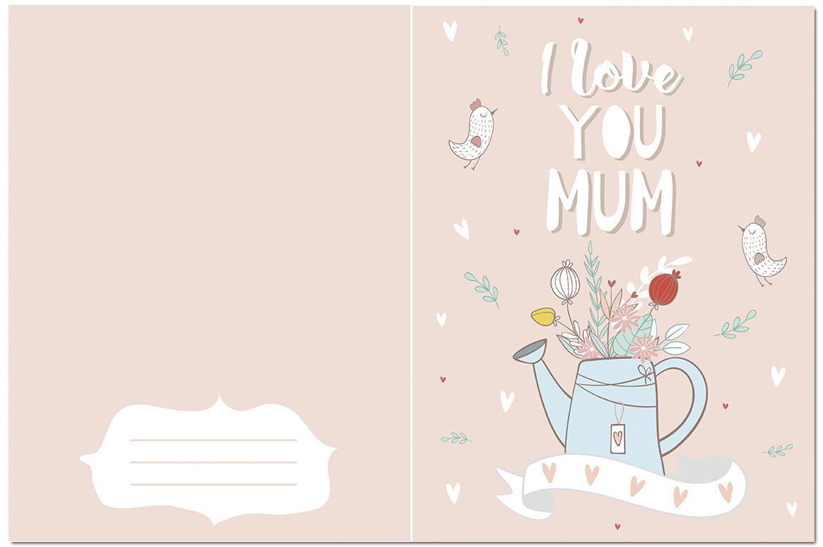 I love mom. Vector illustrations example image 5