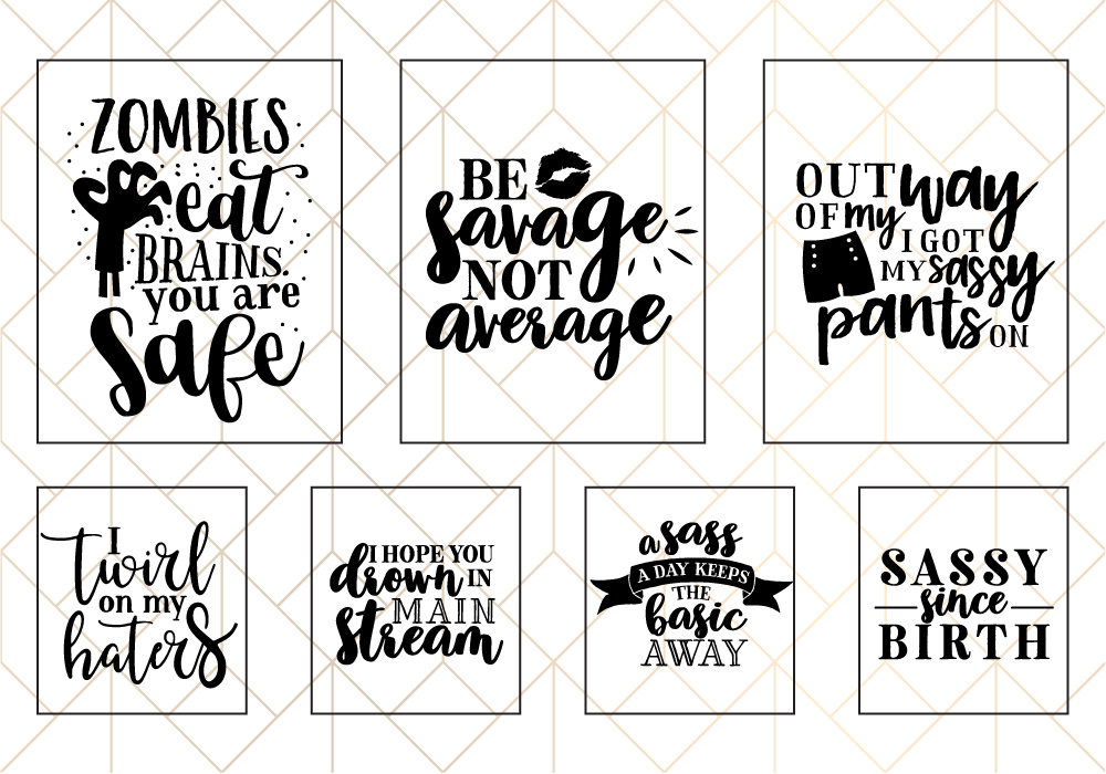 Sassy Quote SVG Cut File Bundle example image 4