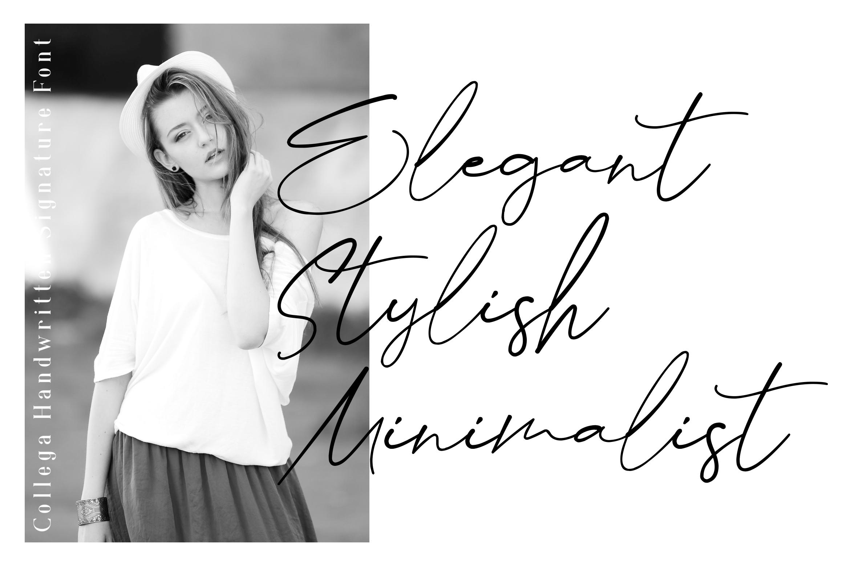Collega // Handmade Signature Typeface example image 2