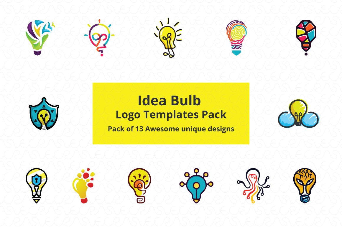 Ideas Bulb Logo Templates Pack of 13 Awesome unique designs example image 1