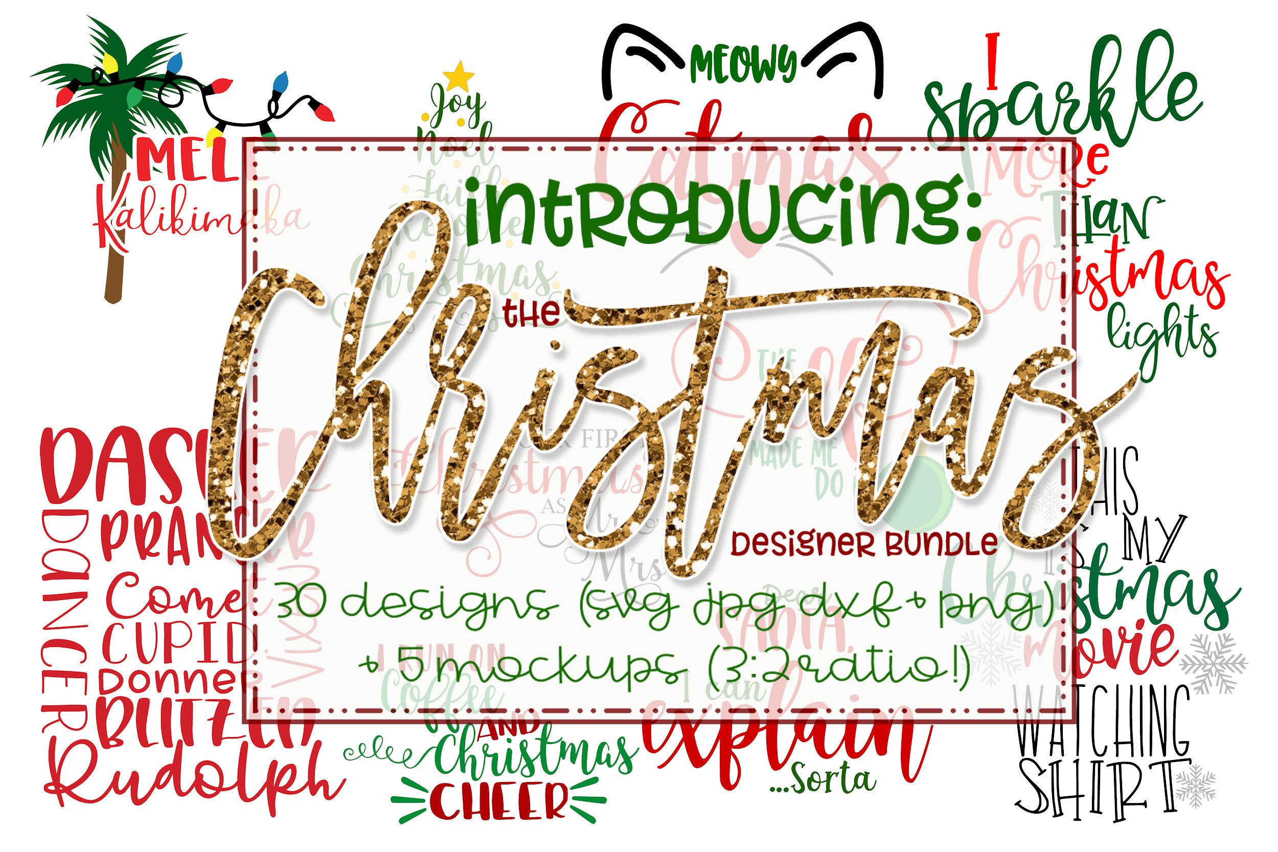 The Christmas Bundle - 30 Designs And 5 Mockups! example image 1