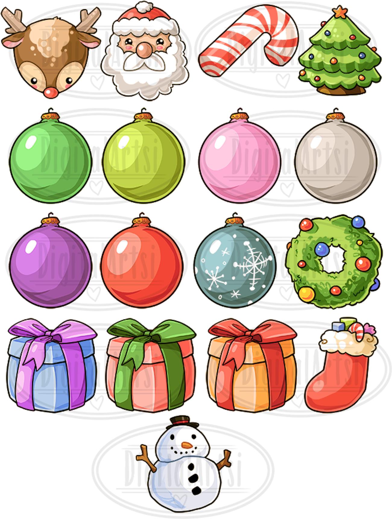 Kawaii Christmas Clipart