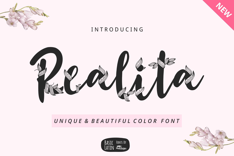 Realita Color Font example image 2