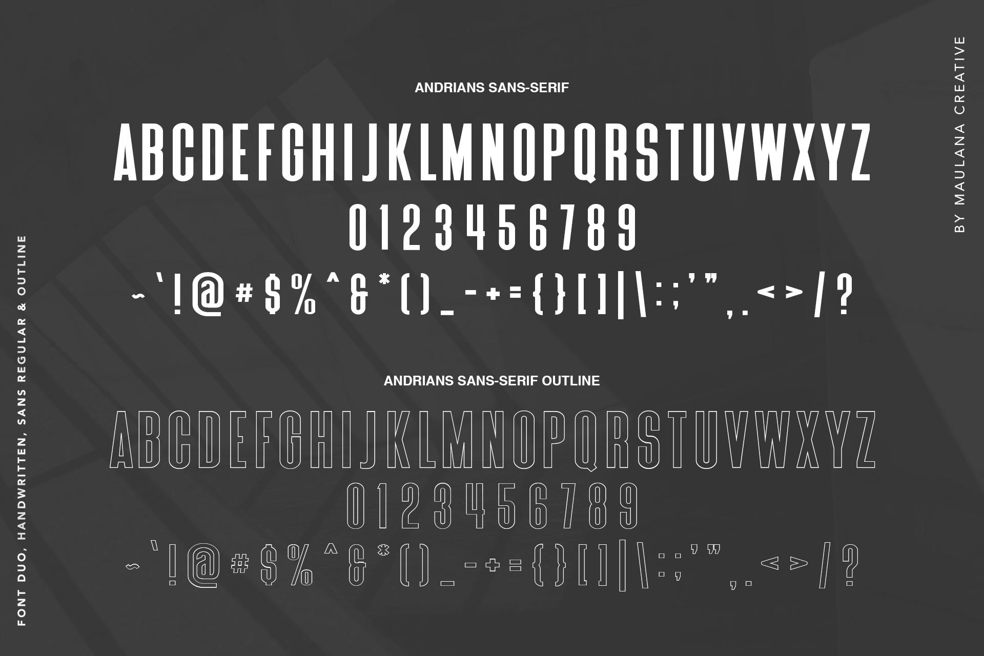 Andrians Script Sans Font example image 9