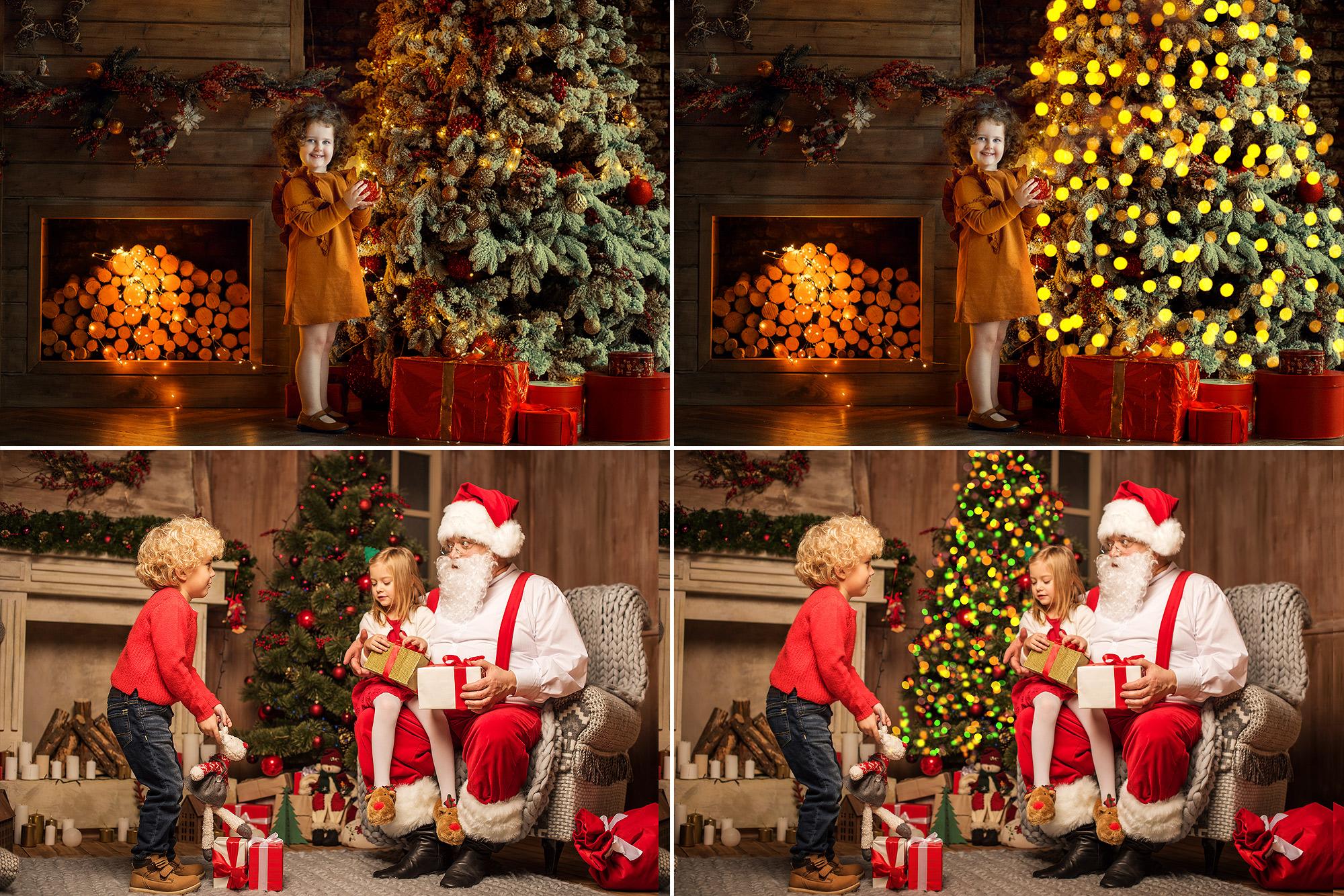 25 Christmas Tree Lights Overlays example image 2