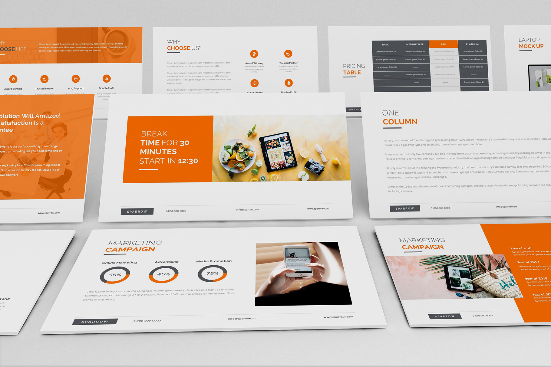 Sparrow - Creative Agency Powerpoint example image 5