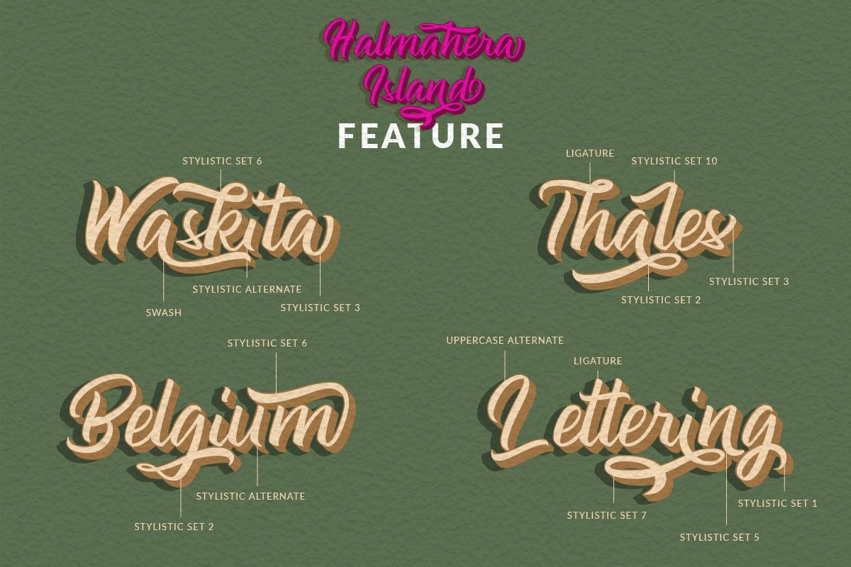 Halmahera Island - Layered Font example image 3