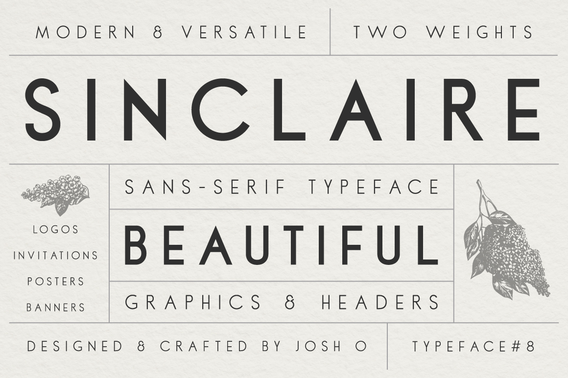 Sans Serif Typeface Collection example image 2