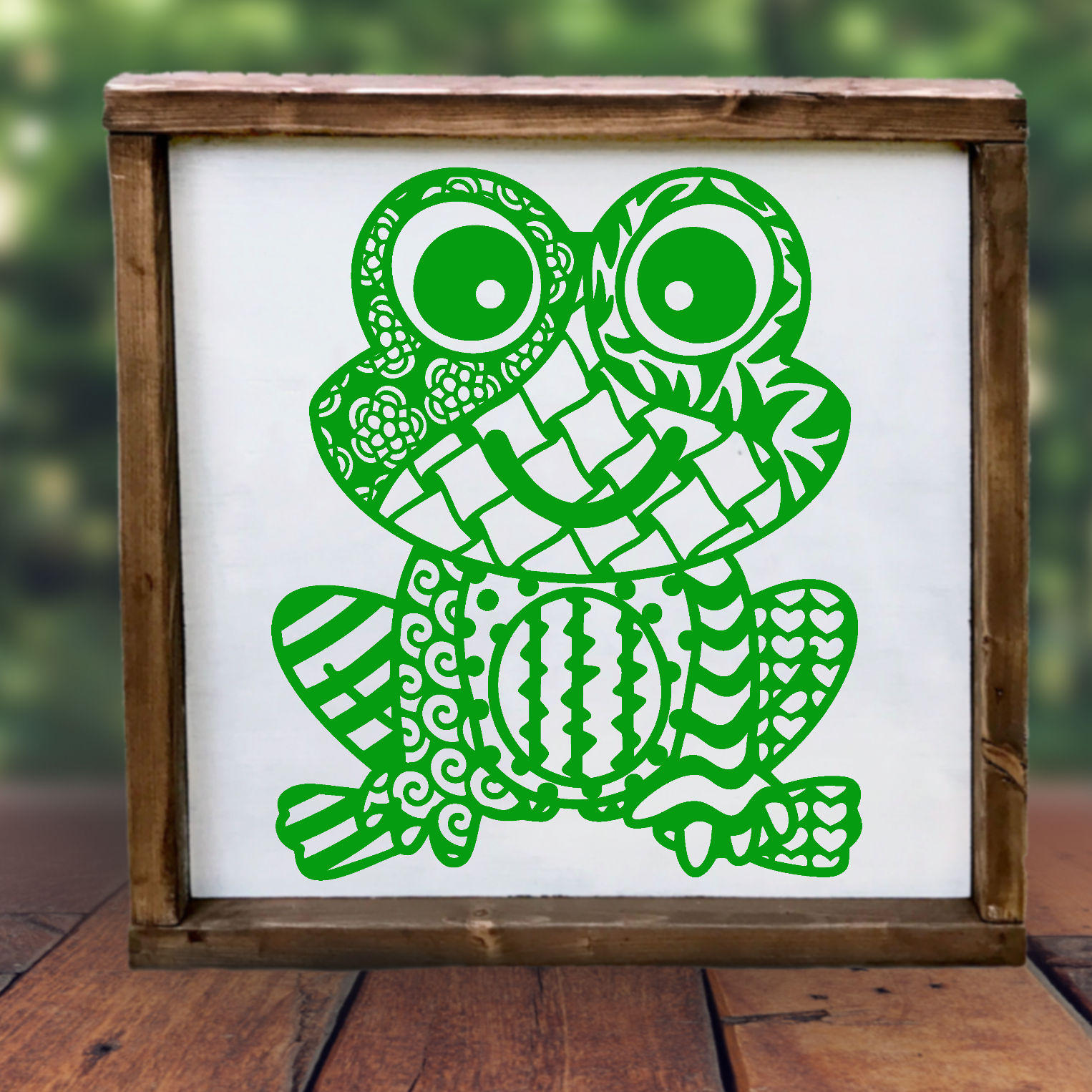 Frog SVG with Doodle patterns example image 2