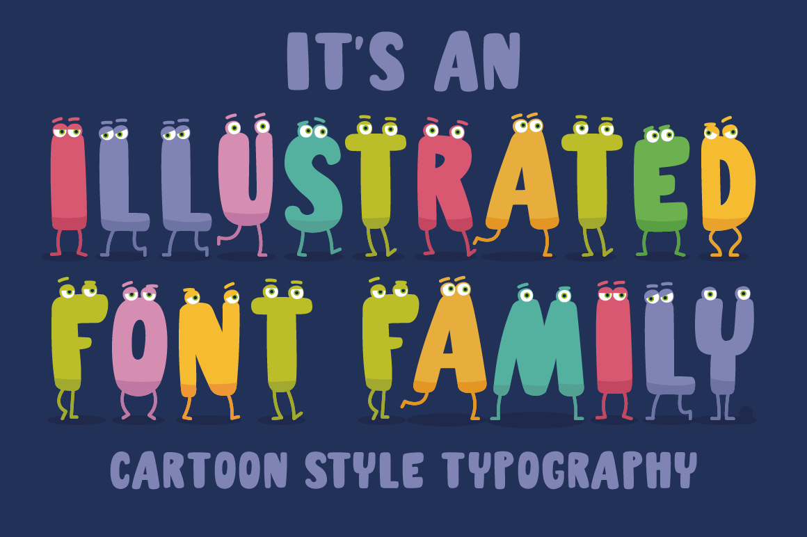 Charm - illustrated letter font example image 3