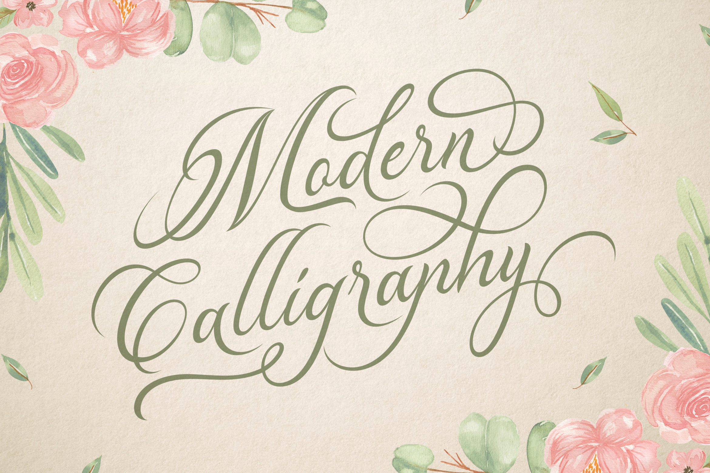 Madelican Calligraphy Font example image 2