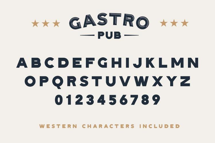 Gastro Pub - Type Family - Font Family example image 7