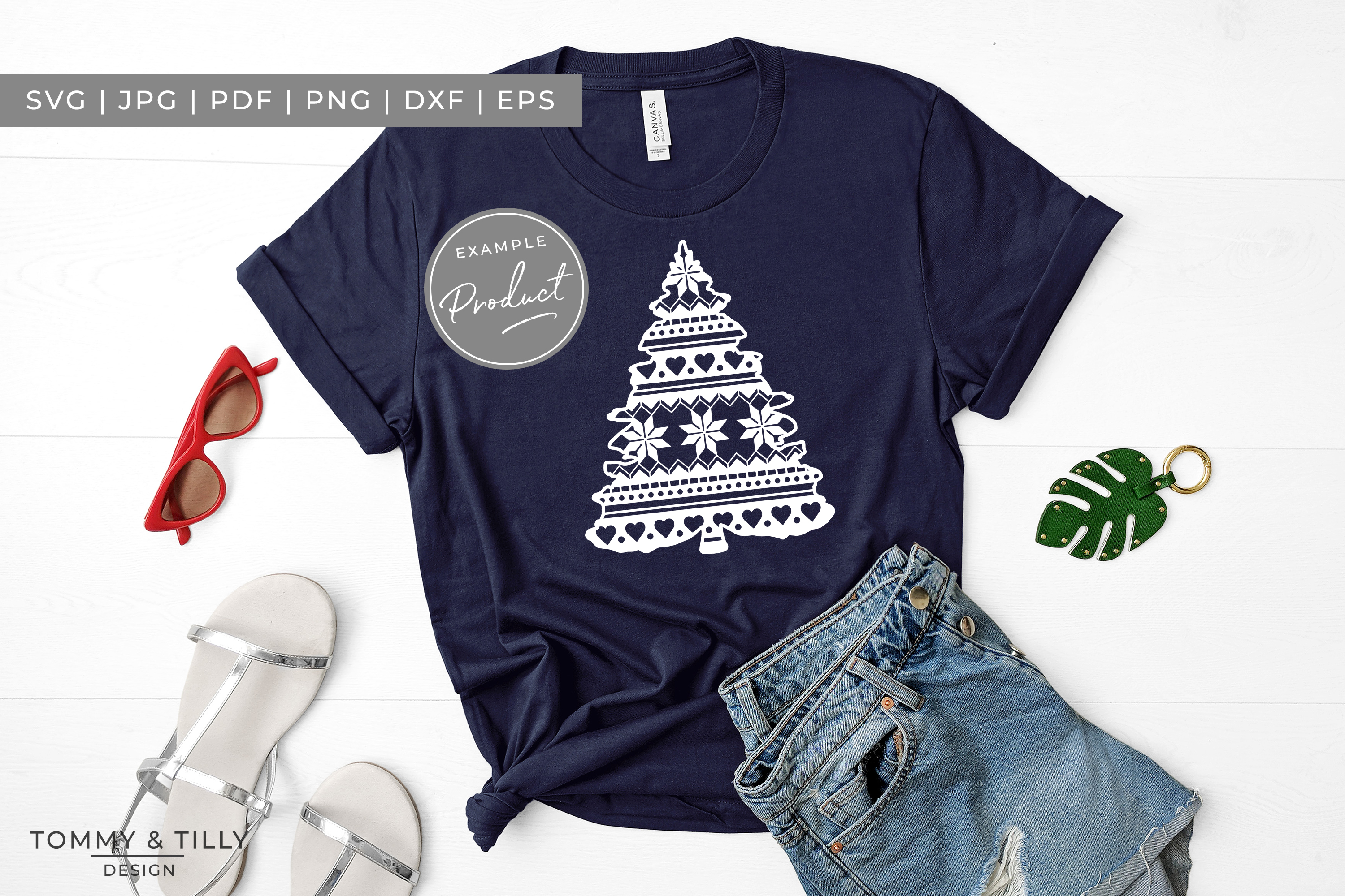 Pattern Christmas Tree - SVG EPS DXF PNG PDF JPG example image 2