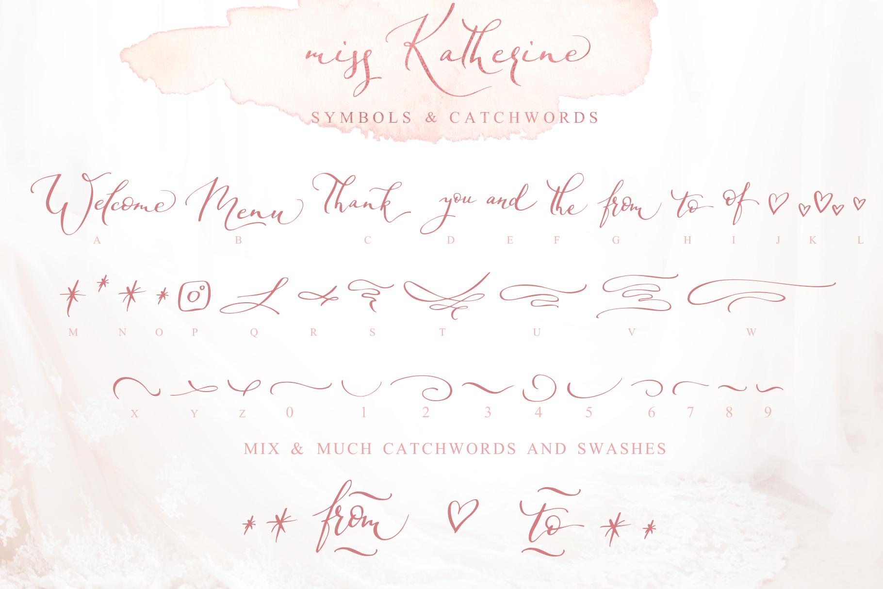 Miss Katherine font + Extras & Logo example image 5