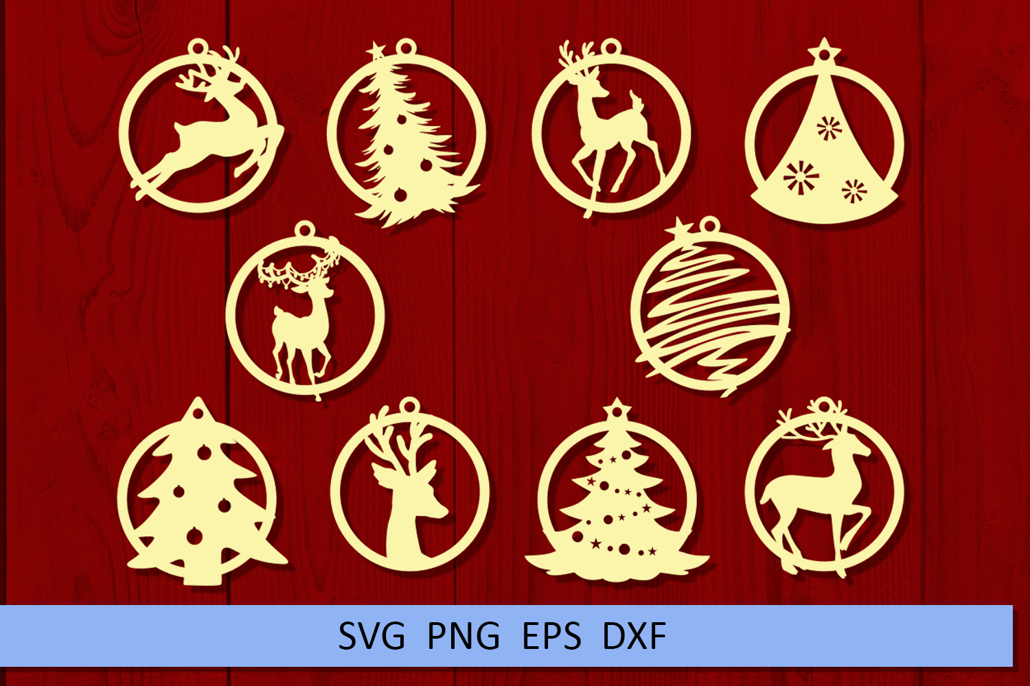 10 Christmas earrings svg Leather earrings svg Necklace svg example image 4