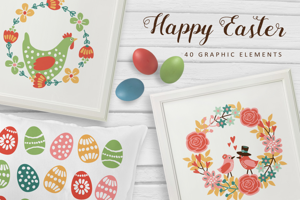 Happy Easter set example image 1