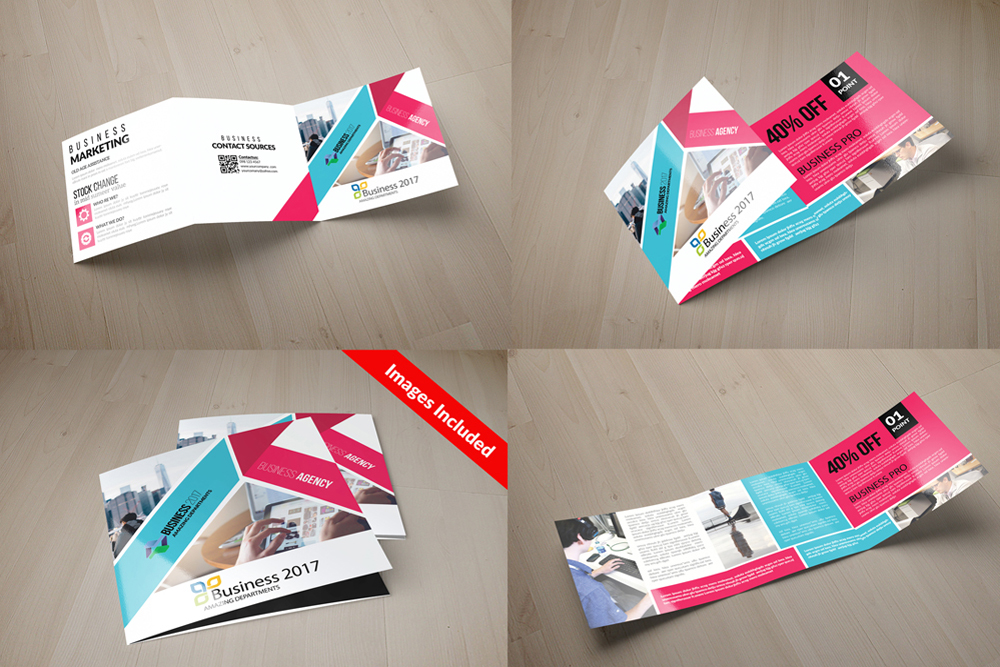 25 Square Trifold Business Brochures Bundle example image 18