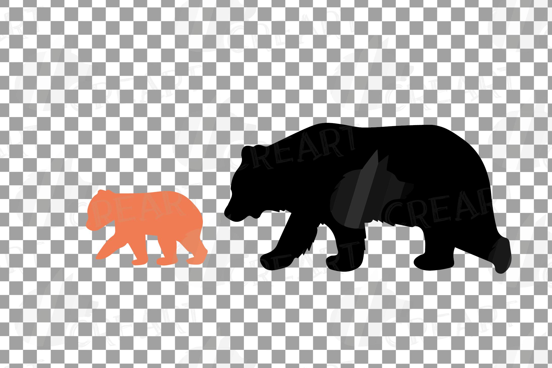 Baby and mama bear nursery clip art collection, bears print example image 16