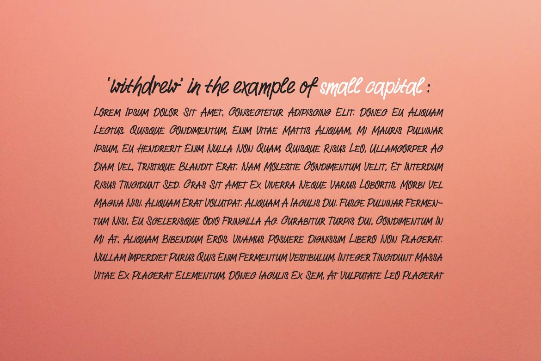 Withdrew - Modern Script example image 8