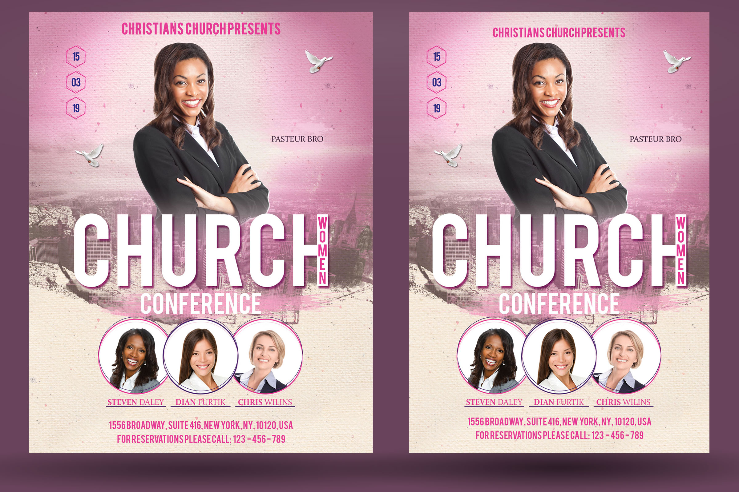 Church Women Conference Flyer Poster example image 2