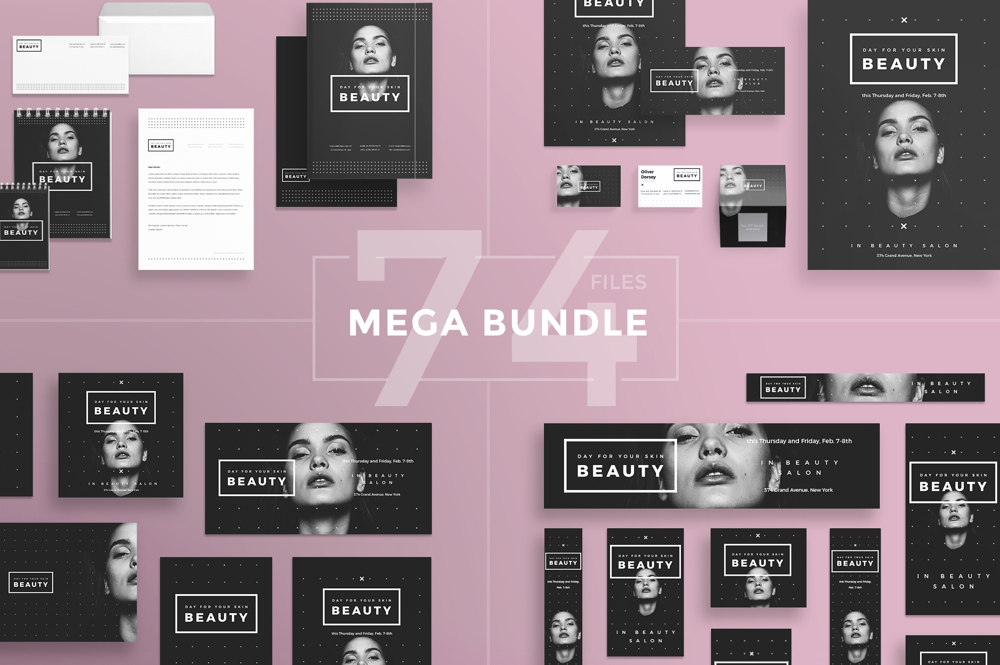 Free Bundle Flyers, Posters, Ad Banners, Social Media Covers and Posts, Business cards, Brending, Identity example image 10