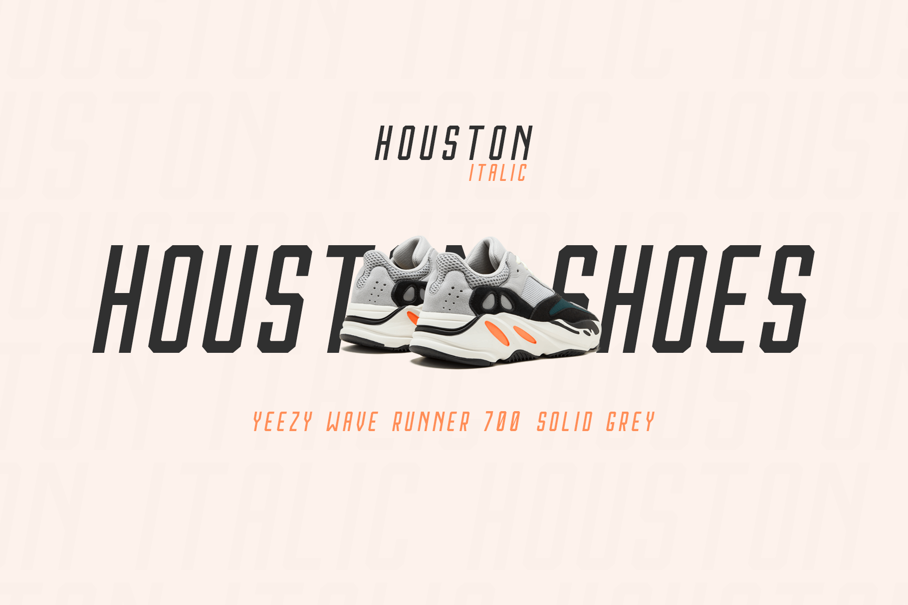 Houston Italic Font Family example image 5