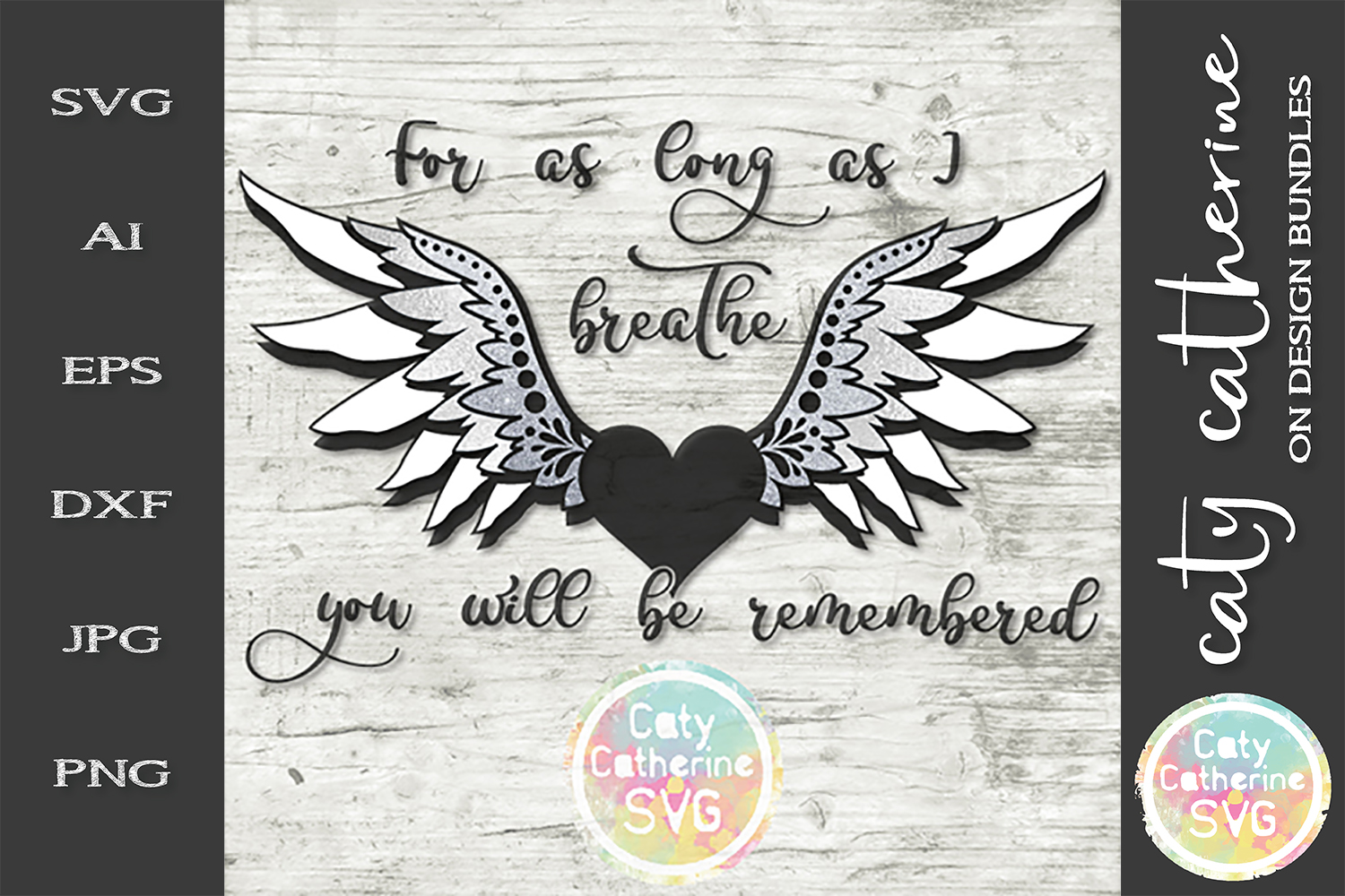 For As Long As I can Breathe You Will Be Remembered SVG example image 1