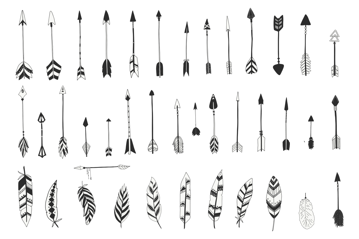 Tribal Arrows and Feathers example image 2