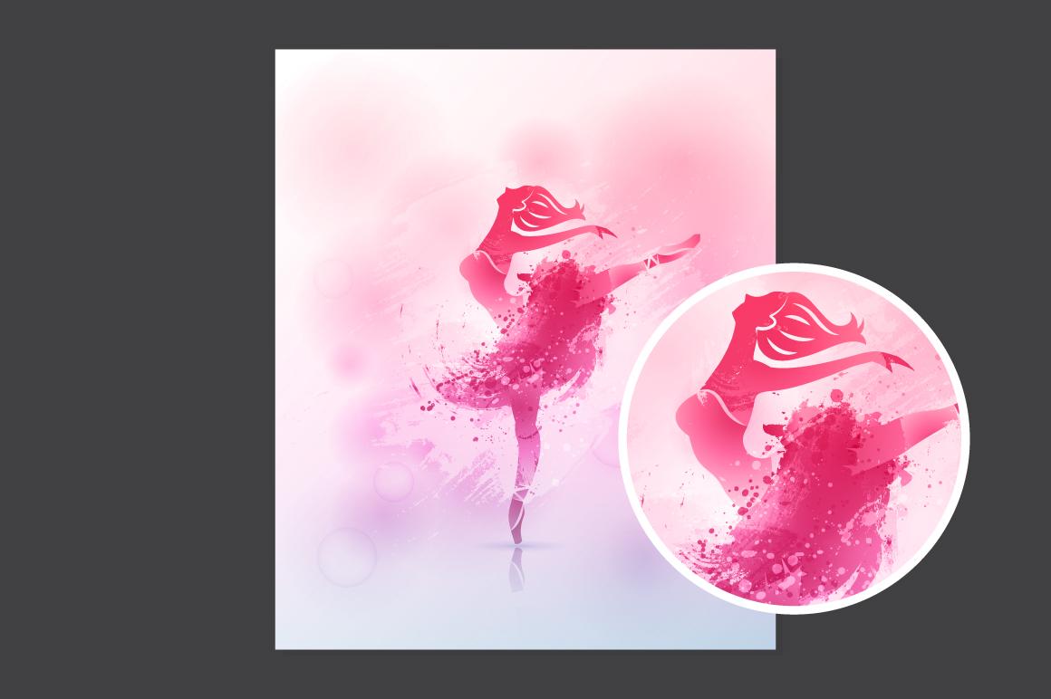 Watercolor poster - Ballerina example image 2