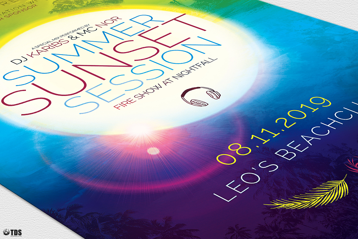 Summer Sunset Flyer Template example image 6