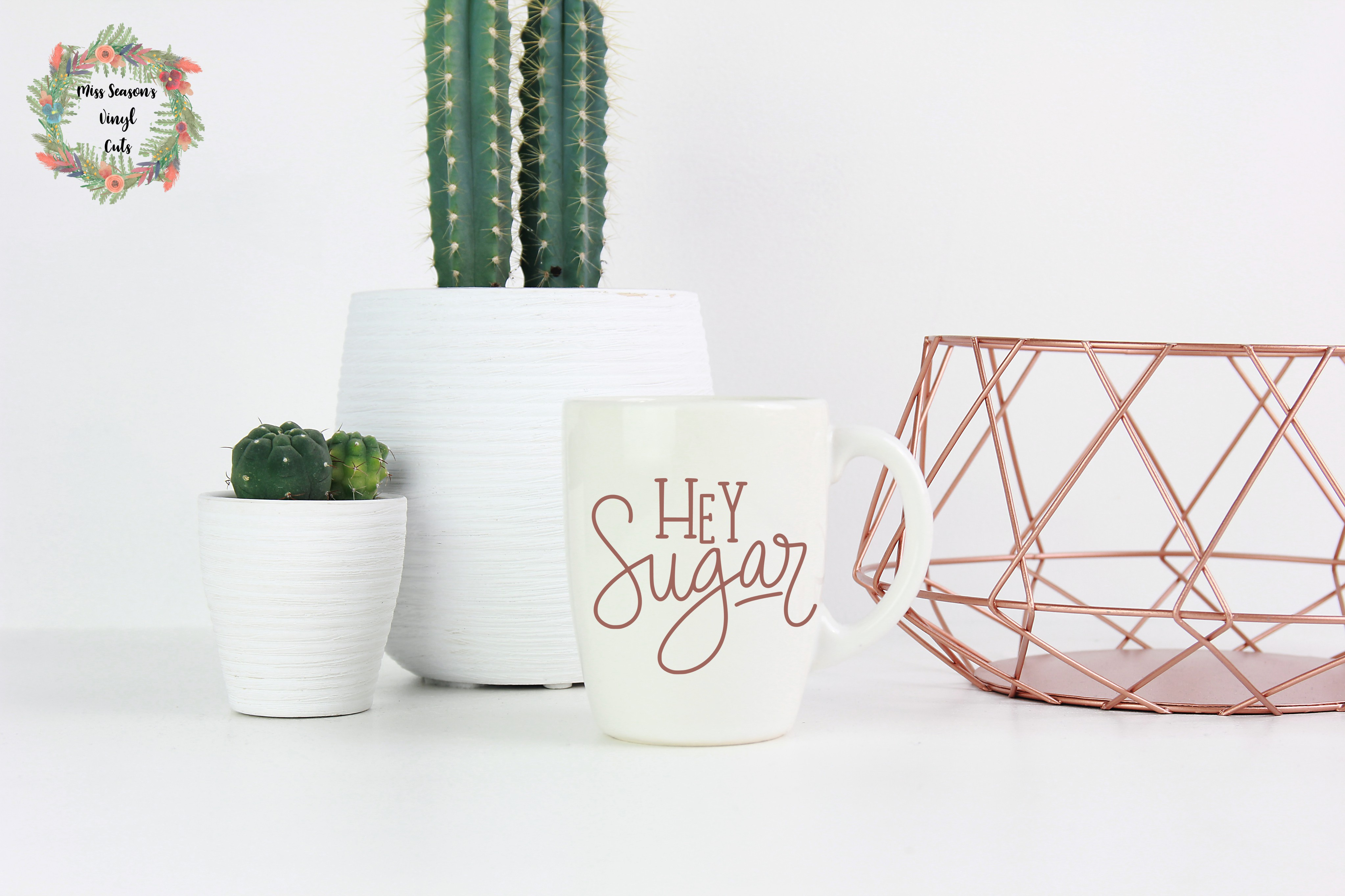 Hey Sugar Hand Lettered SVG example image 1