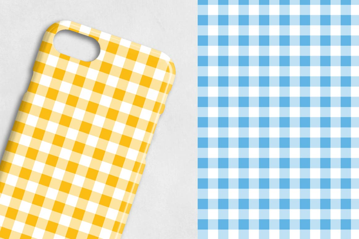 spring-gingham, digital papers example image 2