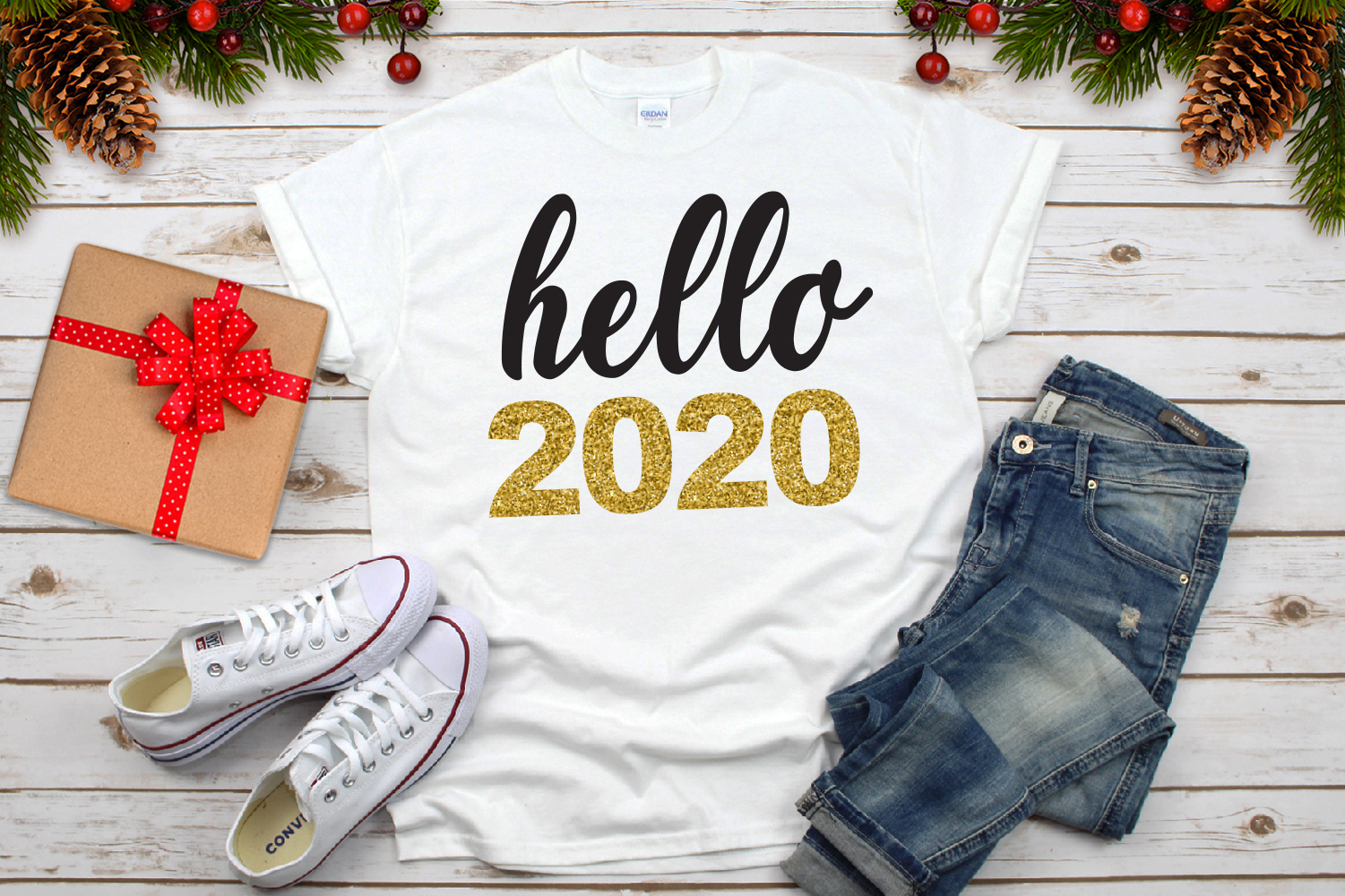 Hello 2020 Svg, New Year Svg example image 4