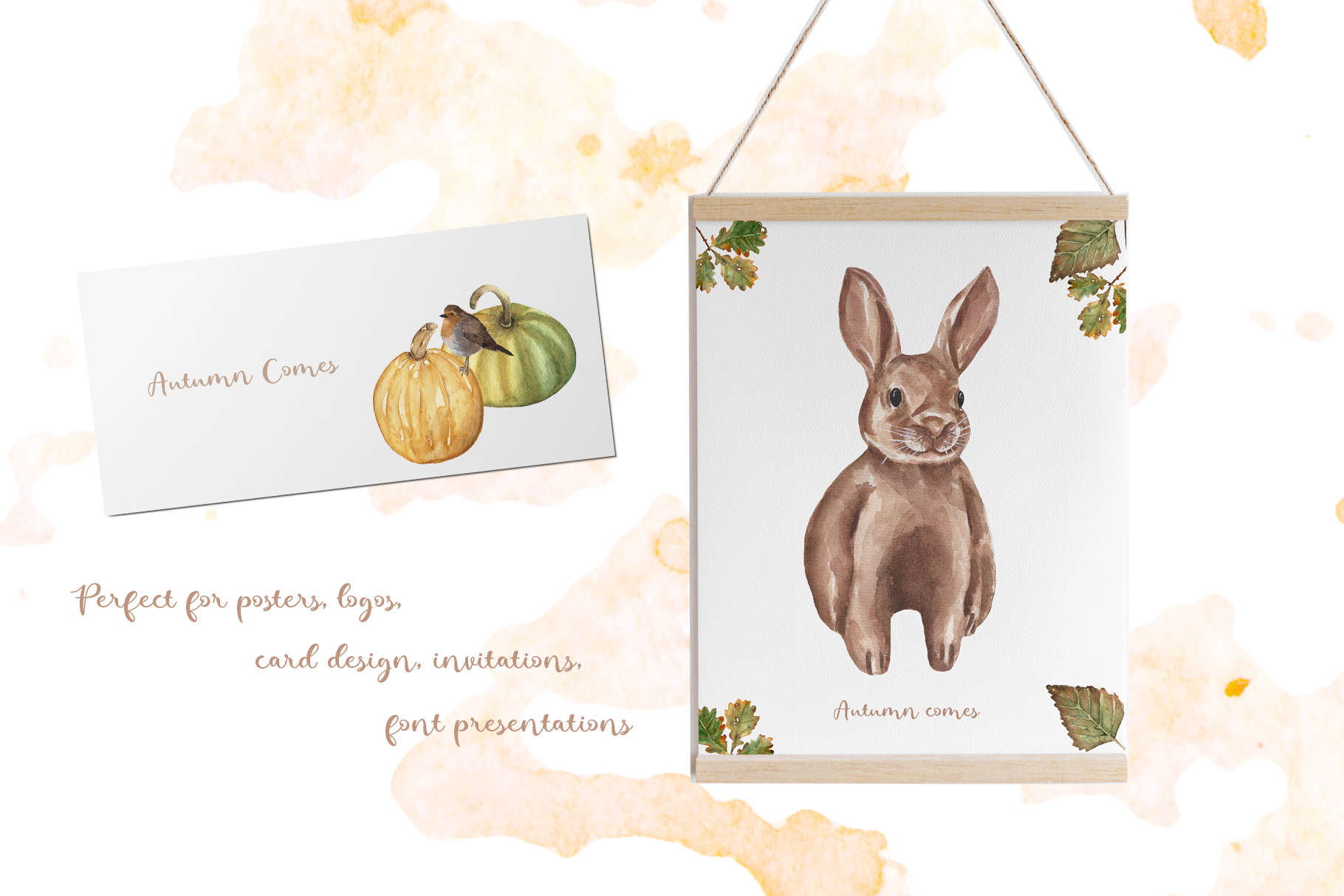 Watercolor Autumn Collection example image 8