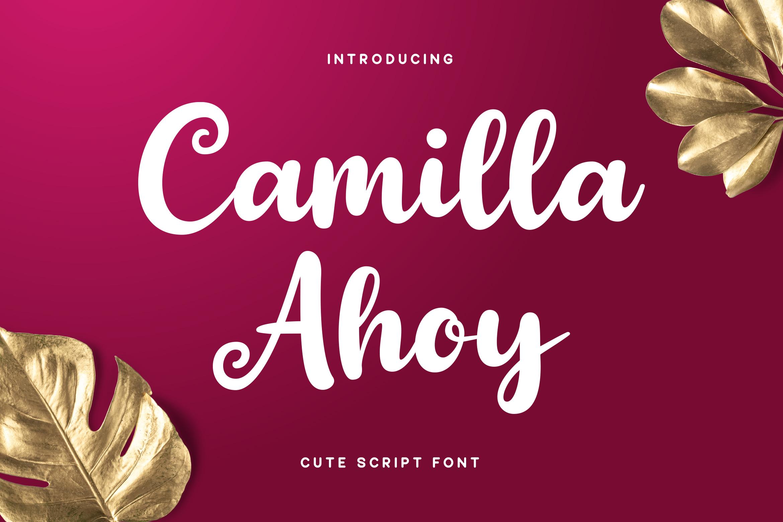Camilla Ahoy - Cute Script Font example image 1