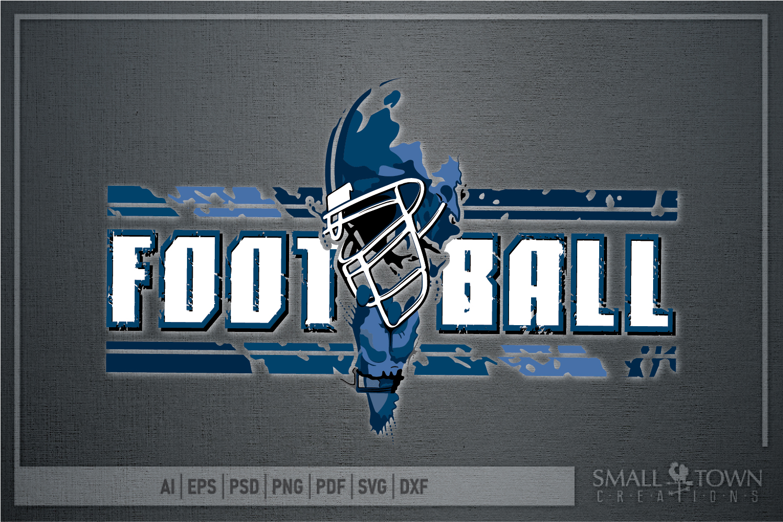 Football, Football helmet, Team logo, PRINT, CUT & DESIGN example image 3