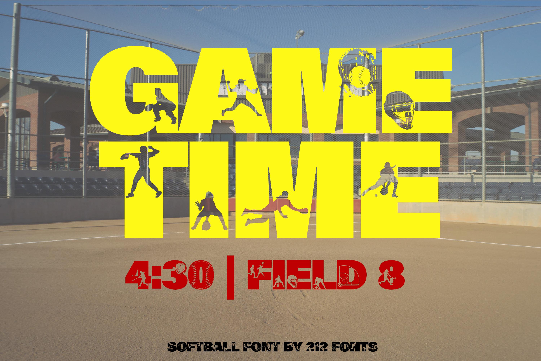 212 Softball Caps Display Font Softball Player Alphabet OTF example image 9
