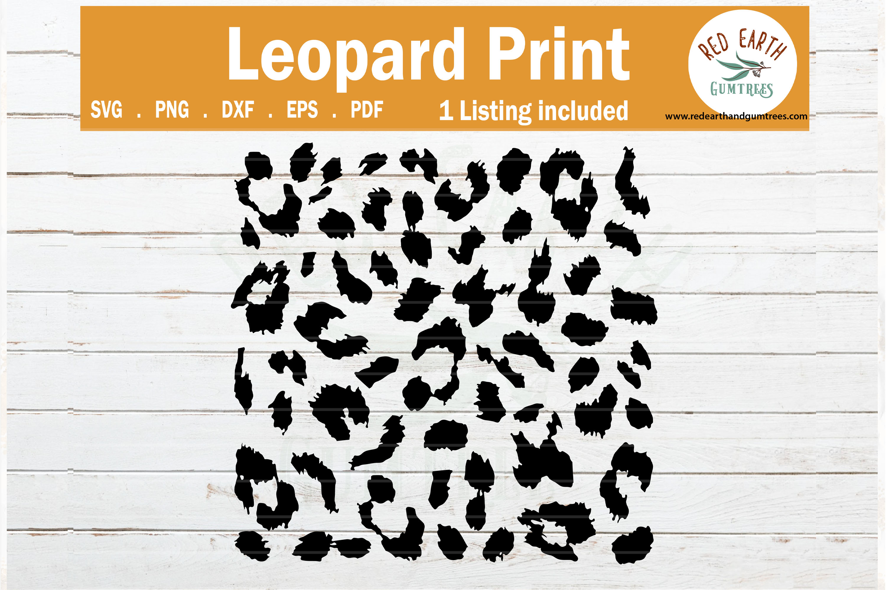 Download Leopard spots print svg, cheetah print template SVG,PNG,DXF