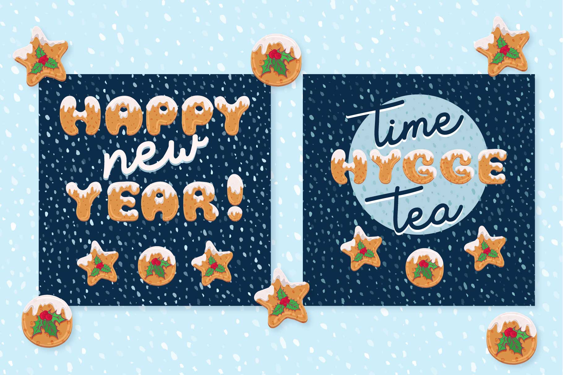 Xmas cartoon cookie font family example image 6