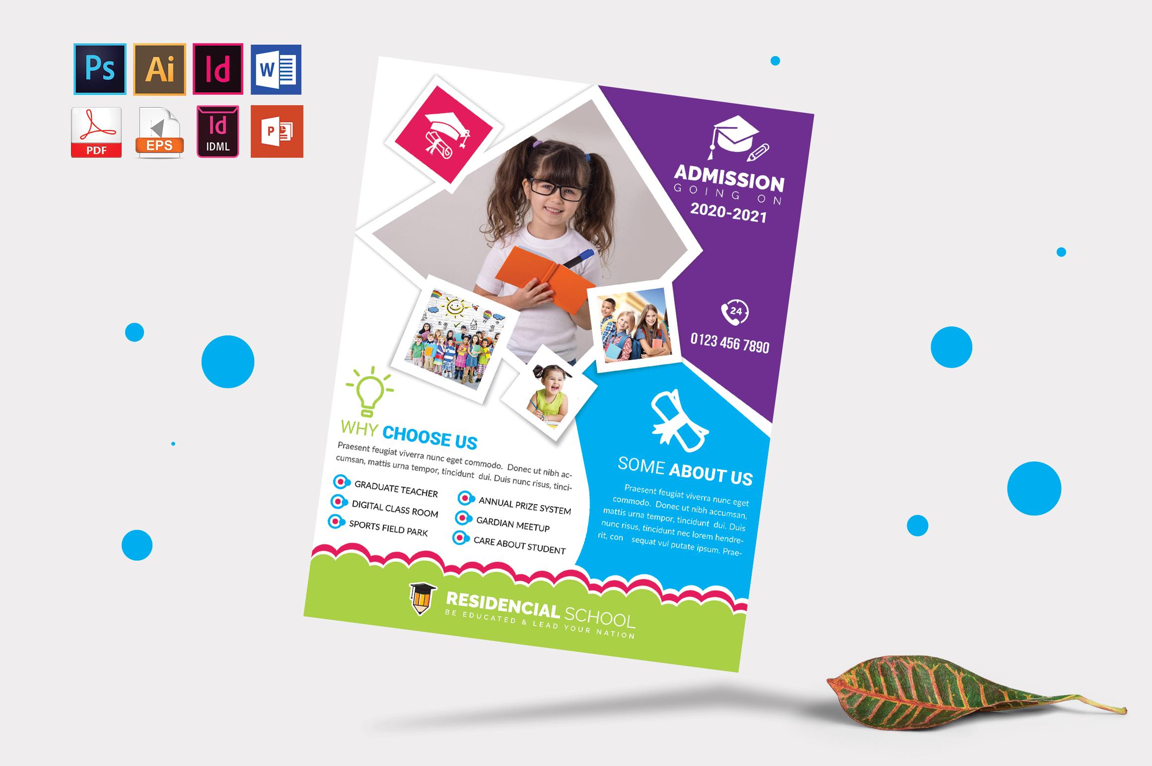 School Flyer Template Vol-08 example image 3