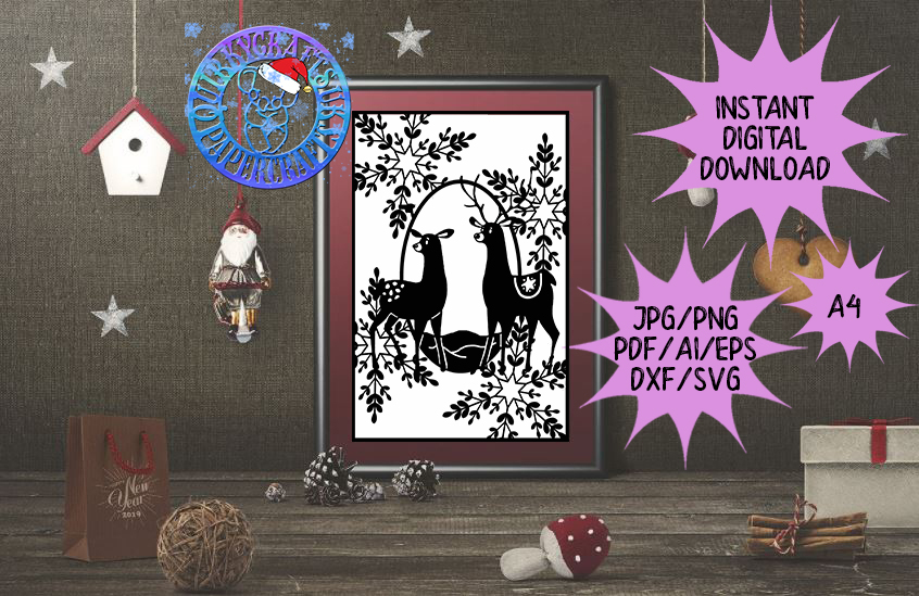 60 brand new ADVENT Templates jpg/png/ai/dxf/svg example image 7