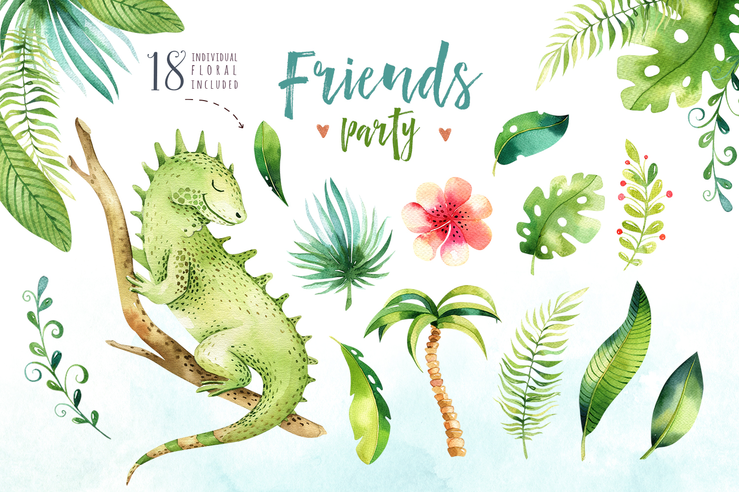 Friends party. Tropical collection example image 2