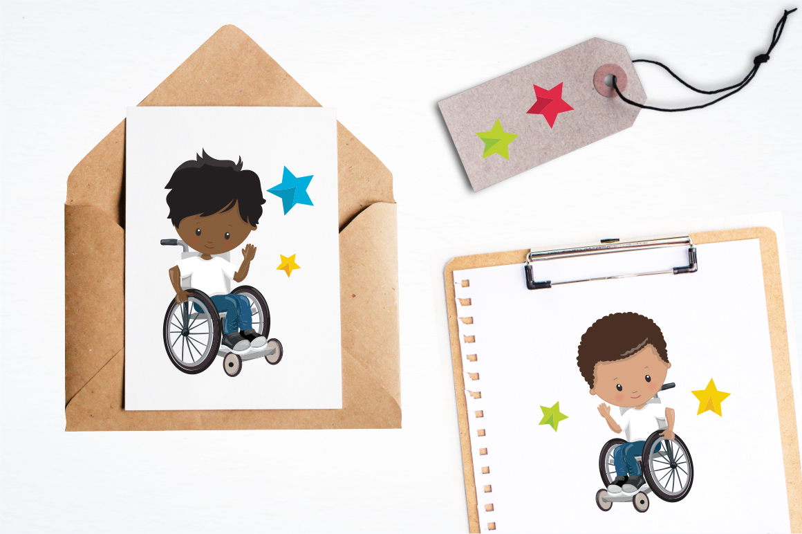 Little boys II graphics and illustrations example image 5