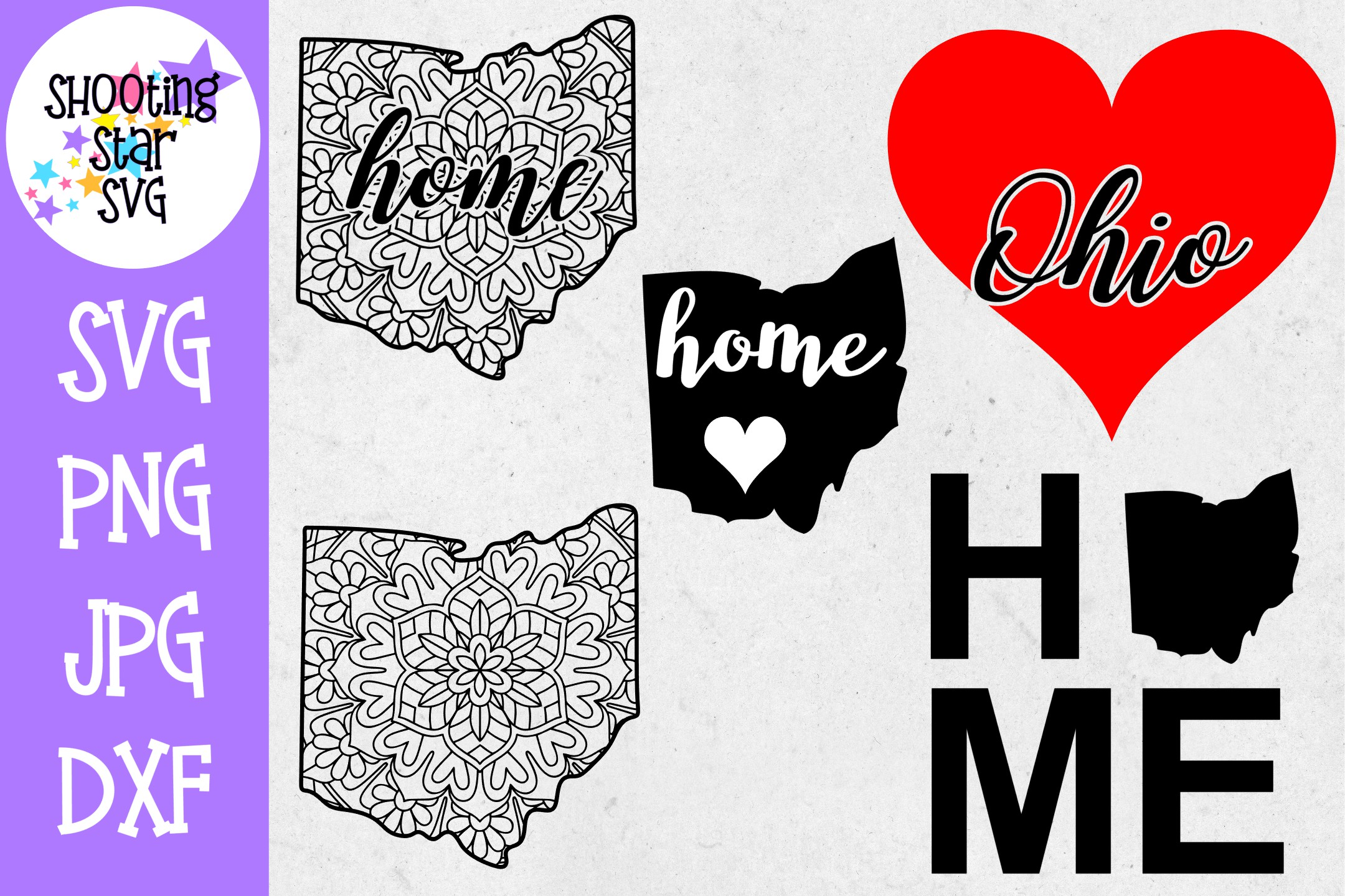 Ohio US State SVG Decal Bundle - 50 States SVG example image 1