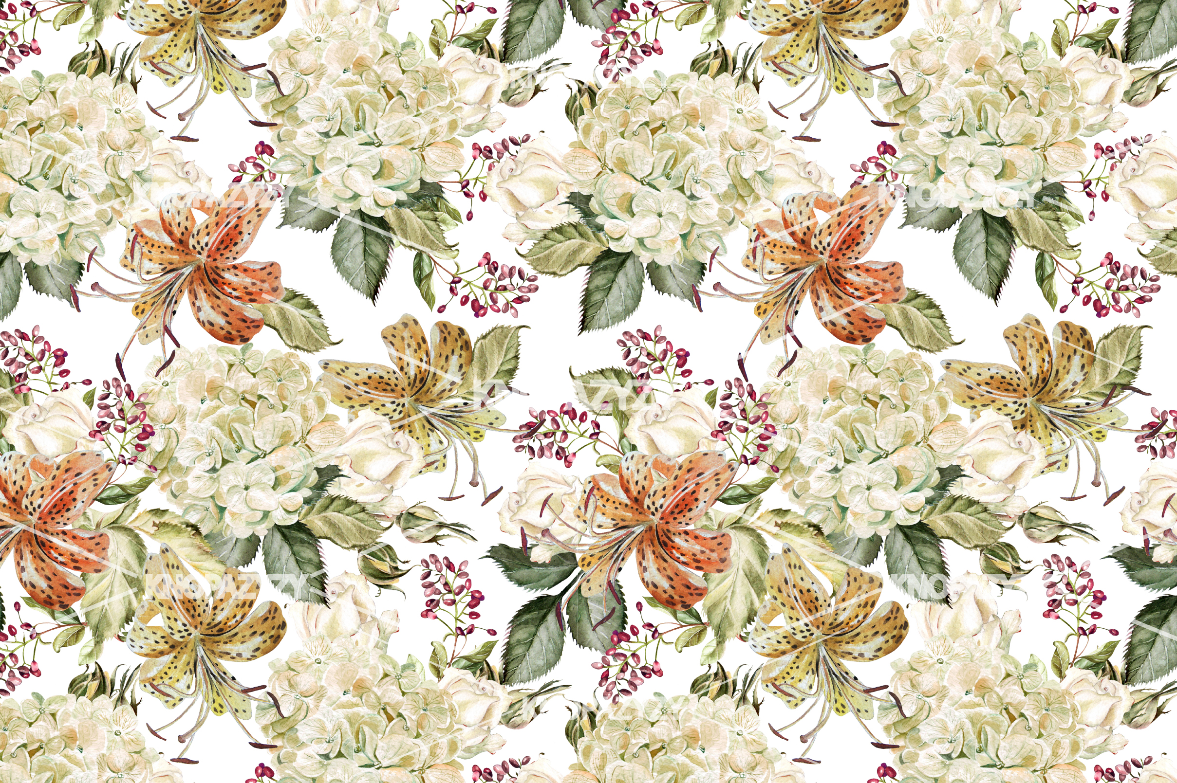 14 Hand drawn watercolor patterns example image 12