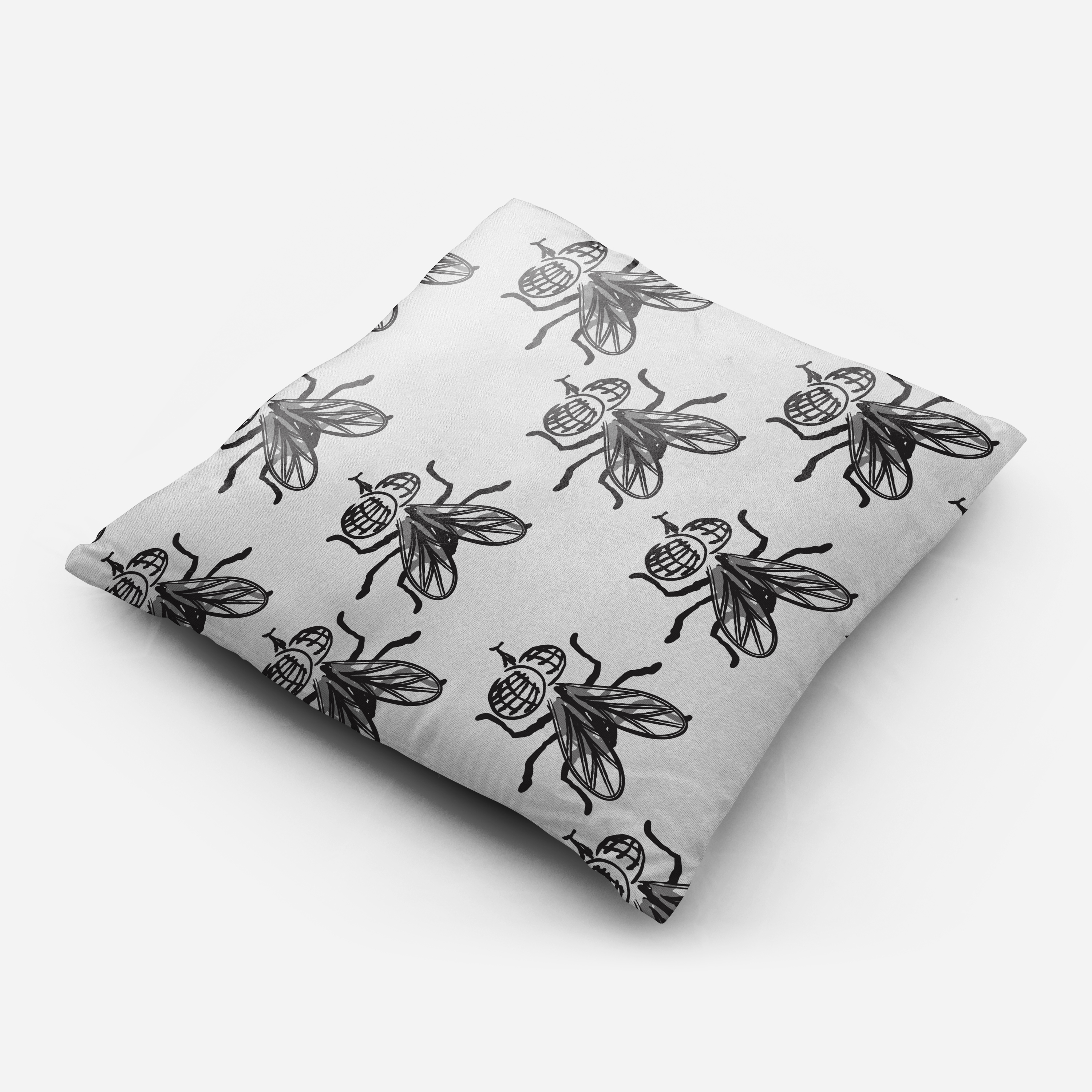 Seamless pattern with insect hand drawn flies. example image 2
