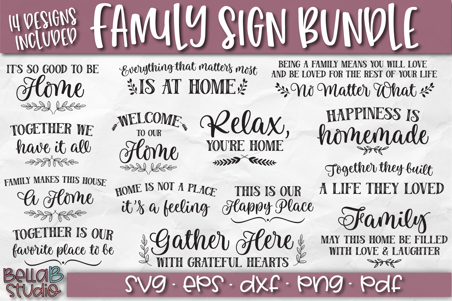 Wood Sign SVG Bundle, Family Bundle, Home SVG File example image 1