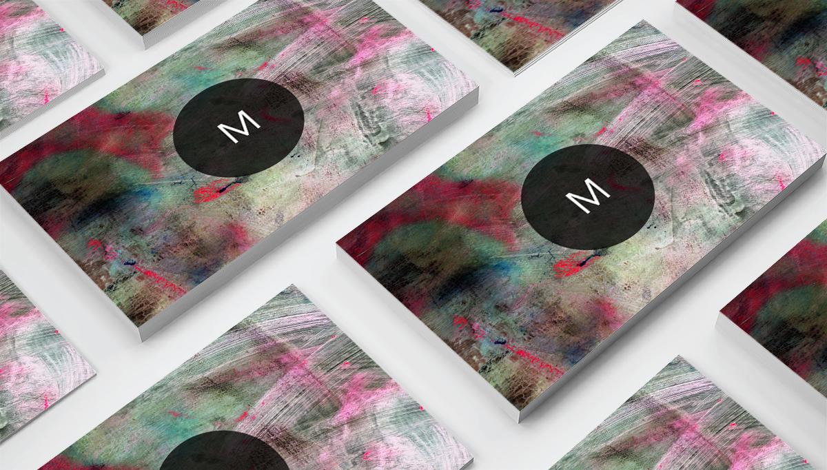 Modern Pattern Texture Beautiful Professional Art Business Card   example image 2