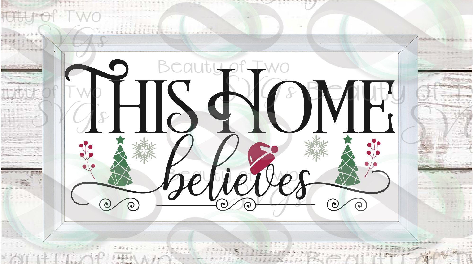 Christmas Farmhouse svg, This Home Believes front porch svg example image 2